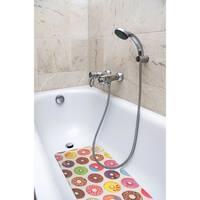 Splash Home Sweet Treat Fabric Printed Bathtub Mats - 16 x 27