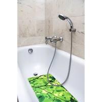 Splash Home Tree Pop Fabric Printed Bathtub Mats - 16 x 27