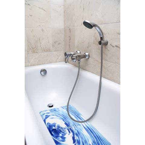 Splash Home Surge Fabric Printed Bathtub Mats - 16 x 27