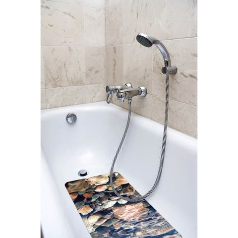 Splash Home Brooke Fabric Printed Bathtub Mats - 16 x 27