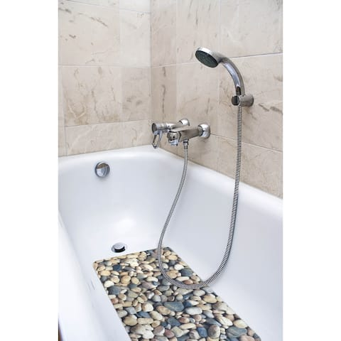 Splash Home Pebble Fabric Printed Bathtub Mats - 16 x 27