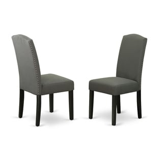 ENP1B20 Encinal parson Chair with Linen fabric-Dark Gotham Grey Color