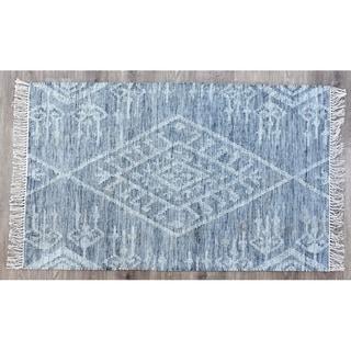 Handmade Kilim Kite Grey Wool Rug (India) - 3'x5'