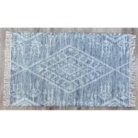 Timbergirl Kilim Kite Grey Wool Handmade Rug - 3'x5'