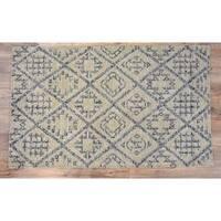 Timbergirl Kilim Craft Grey Wool Handmade Rug - 5'X8'
