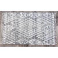 Timbergirl Kilim Sand Wool and Cotton Handmade Rug - 8'x10'