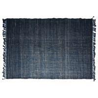 Timbergirl Handmade Textured Indigo Jute Rug - 5' x 8'