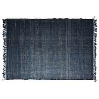 Timbergirl Textured Indigo Jute Handmade Rug - 8'x10'