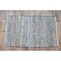 Timbergirl Denim Natural Cotton and Hemp Handmade Rug - 8'x10'