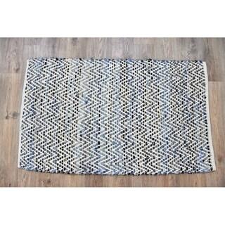 Timbergirl Denim Natural Cotton and Hemp Handmade Rug - 3'x5'
