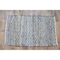 Timbergirl Denim Natural Cotton and Hemp Handmade Rug - 5'X8'