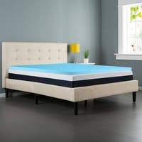 ONETAN, Gel Infused 2-Inch High Density Foam Mattress Topper with Remoable Cover