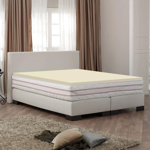 ONETAN 2-Inch High Density Foam Mattress Toppers,Add Comfort To Mattress