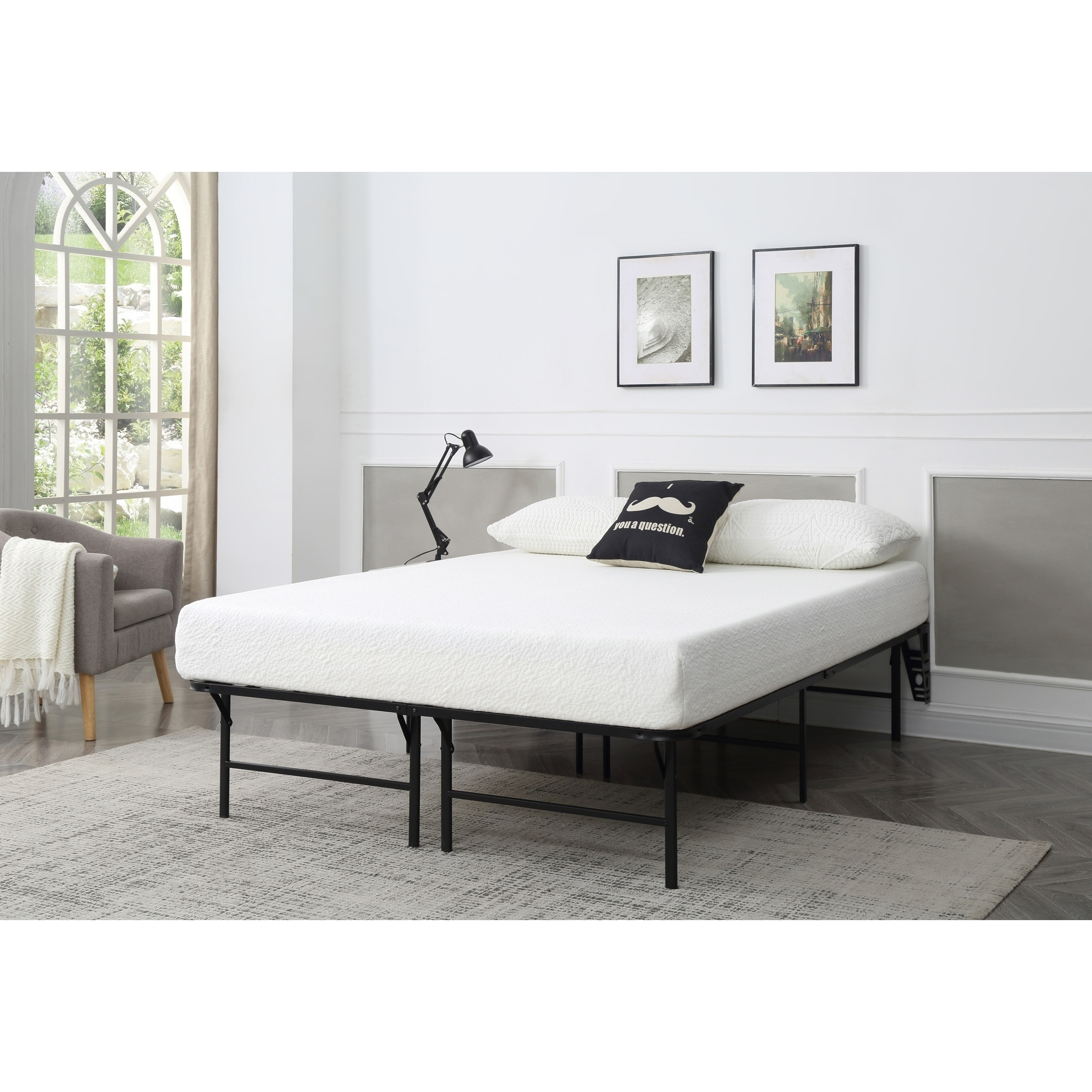 - Shop Optima Foldable Queen Platform Bed Frame - Overstock - 25446573