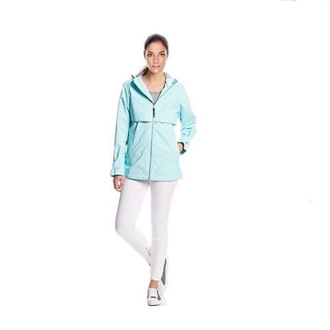 Charles River Women's Englander Rain Jacket, Aqua
