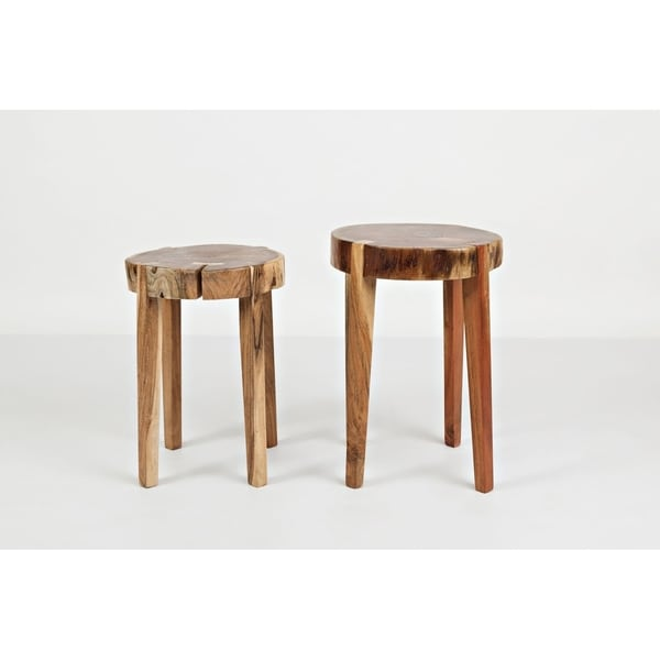 Global Archive All Wood Accent Tables (Set of 2)