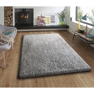 Silver Thick-pile Area Rug - 7'6 x 10'3