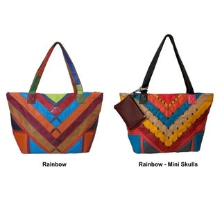 Amerileather Simonda Rainbow Tote