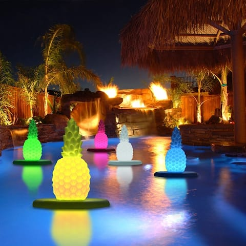 Modern Home Deluxe Floating LED Glowing Pineapple w/Infrared Remote Control