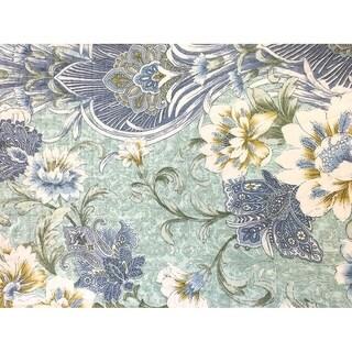 Cozy Line Jasmine Floral 3 Piece Reversible Cotton Quilt Set