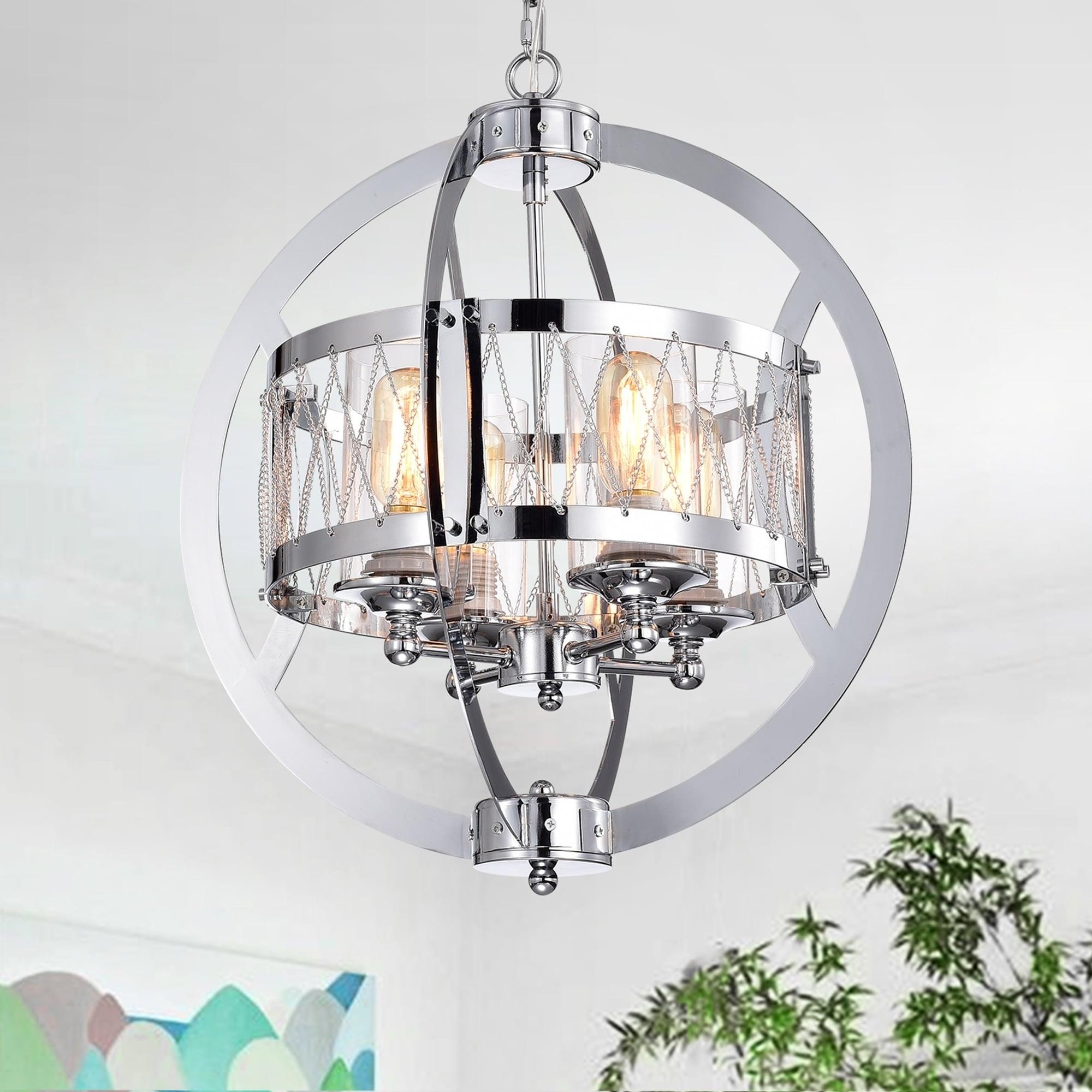Spelbow 4 Light Chrome Globe Chandelier
