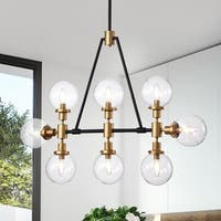 Itstar 8-light Gold Chandelier with Clear Glass Globe Shades