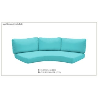 Covers for Low-Back Curved Armless Sofa Cushions 6 inches thick