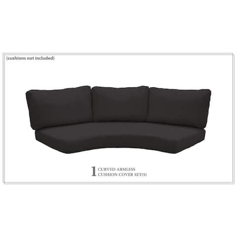 6 Inch Cushion Cover for High-Back Curved Armless Sofa