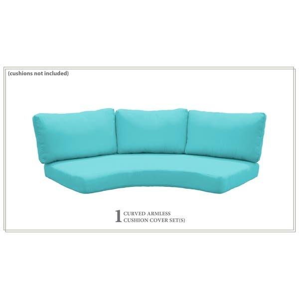High Back Curved Armless Sofa