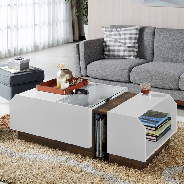 Shop Aunsel Contemporary White Coffee Table By FOA