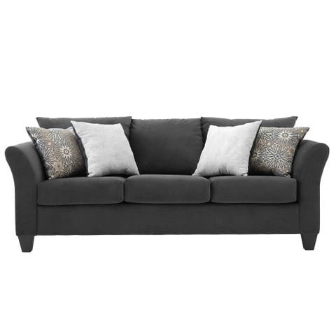 Somette Traditional Sofa with Modern English Arms