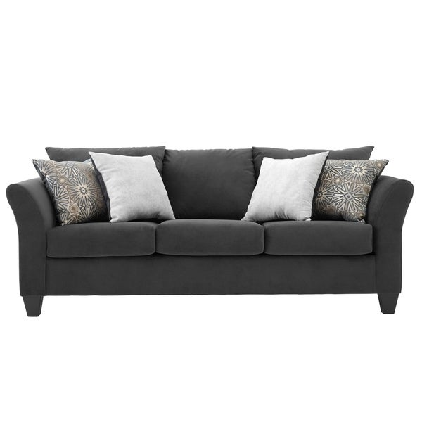 Shop Somette Traditional Sofa With Modern English Arms