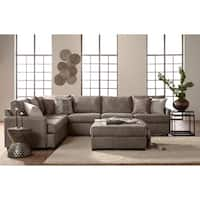 Somette Traditional Track Arm Sectional in Taupe