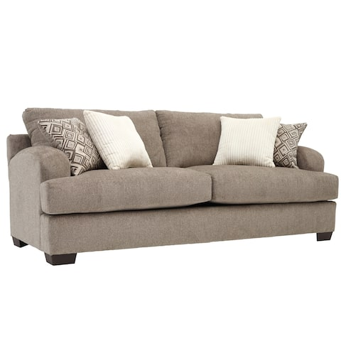 Somette Scooped Arm Sofa in Gray