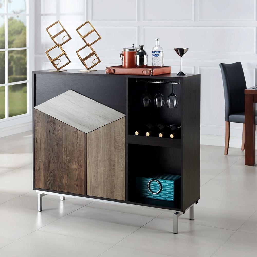 Furniture of America  Kone Modern Espresso 47-inch Serverr with Wine Rack (Espresso)