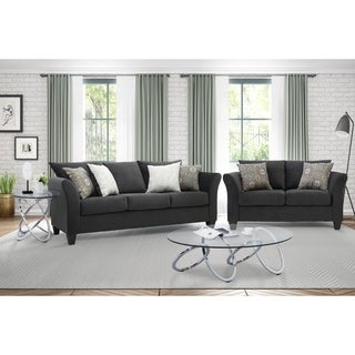 Somette Traditional Sofa and Loveseat with Modern English Arms