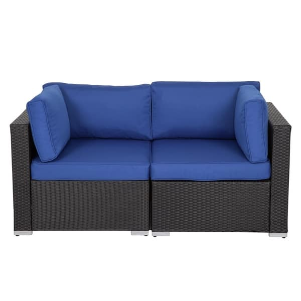 Shop Kinbor 2-piece Outdoor Furniture Patio Love Seat All ...