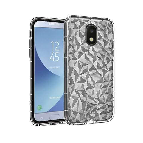 Insten Diamond Textured Design PC/TPU Rubber Case Cover Compatible With Samsung Galaxy J7 (2018)