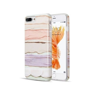 Insten The Artistry Collection w/Glitter Pastel Bliss Marble TPU Rubber Case Cover for Apple iPhone 6 Plus/6s Plus/7 Plus/8 Plus