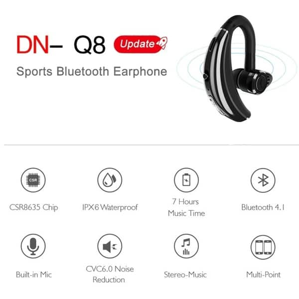 Shop Q8 Bluetooth Headphone With Mic Voice Control Wireless Bluetooth Headset Overstock 25449029