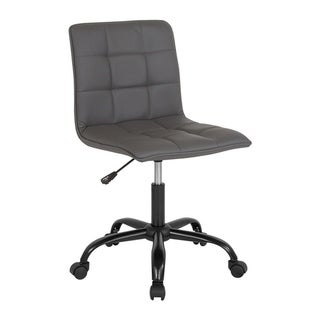 Offex Home and Office Contemporary Adjustable Task Chair in Gray Leather