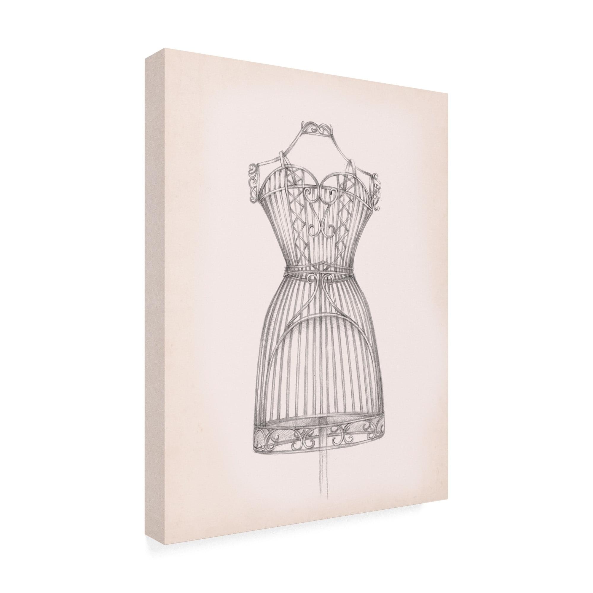 Antique Dress Form I Canvas Art