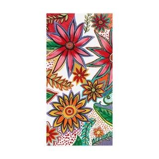 Regina Moore 'Flowering Garden Whimsy I' Canvas Art