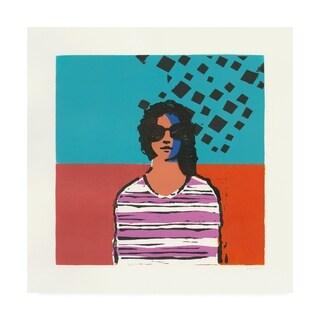 Avery Tillmon 'Sofia Colorblock' Canvas Art