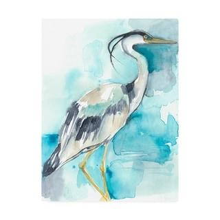 Jennifer Goldberger 'Heron Splash I' Canvas Art