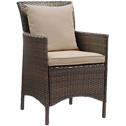 Havenside Home Bocabec Patio Wicker Rattan Dining Armchair