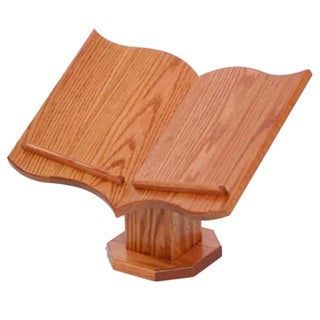 Oak Table Top Bible Stand