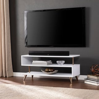 Malsby Sills White Low Profile TV Stand