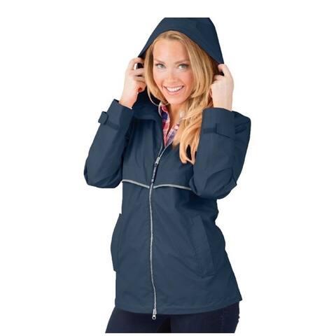 Charles River Women's Englander Rain Jacket Navy