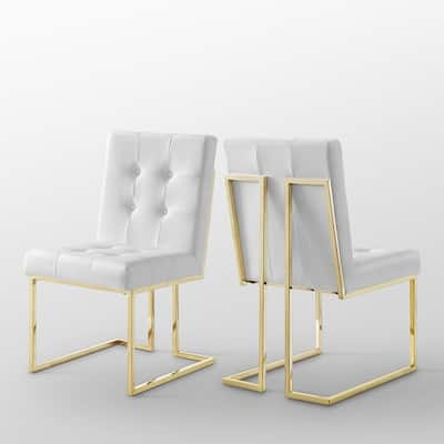Buy White, Chrome Kitchen & Dining Room Chairs Online at ...